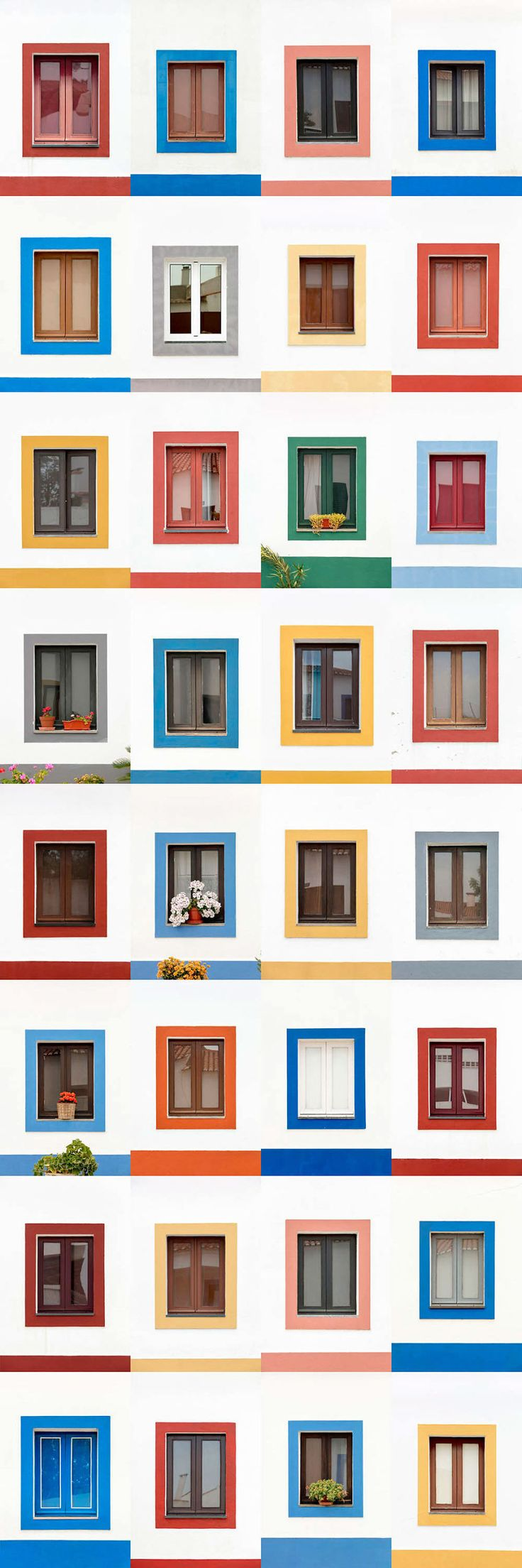 I Traveled All Over #Portugal To Photograph Windows, And Captured More Than 3200 Of Them - via BoredPanda 23-10-2017 | If you are planning a trip to Portugal, you can see which are the most beautiful cities to visit or what kind of architecture you like the most. Photo: Aldeia Da Luz