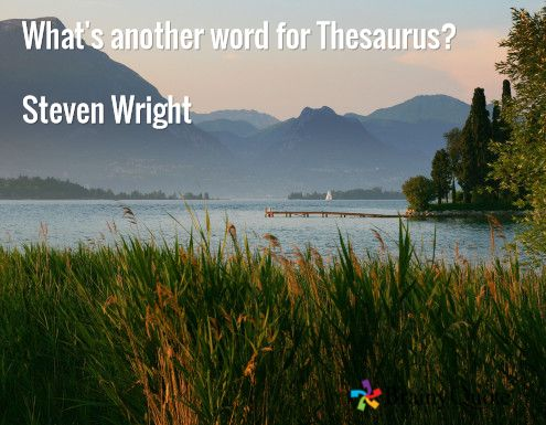 What's another word for Thesaurus?  Steven Wright