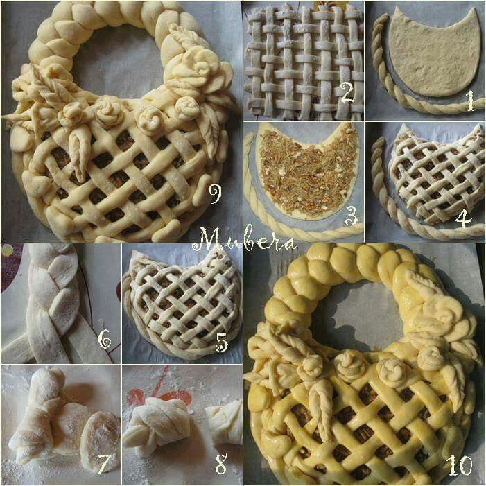 ♡♡ I don't know what country these decorative pastry and bread Pins come from, but they're so beautiful, and from such a simple food. Love 'em!