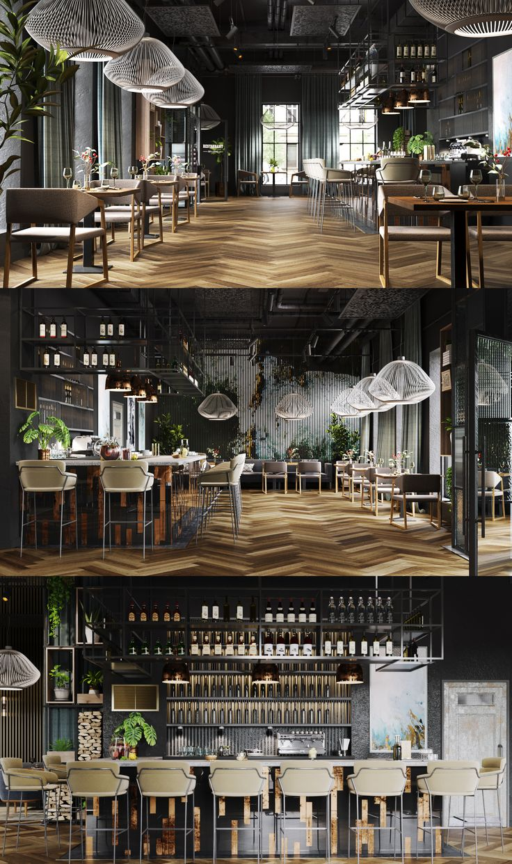 New project of the bar restaurant in