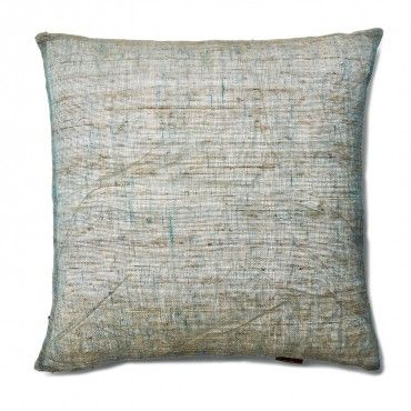 Nettle Marine Linen Pillow Texture takes center stage in this throw pillow, a blend of natural ...