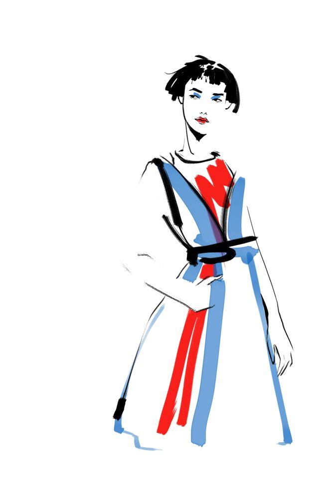 Fashion Illustration by Katerina Murysina. Balmain FW14.
