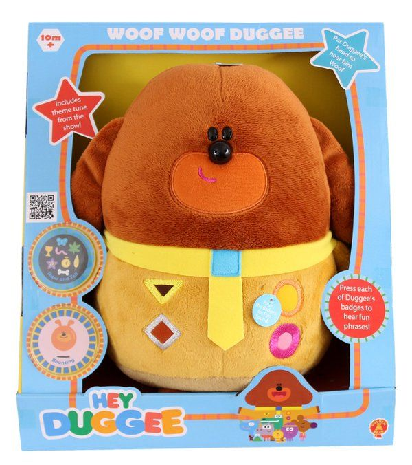 LOWEST EVER AMAZON PRICE Hey Duggee Woof Woof Duggee Soft Toy RRP £24.99 NOW £9.99