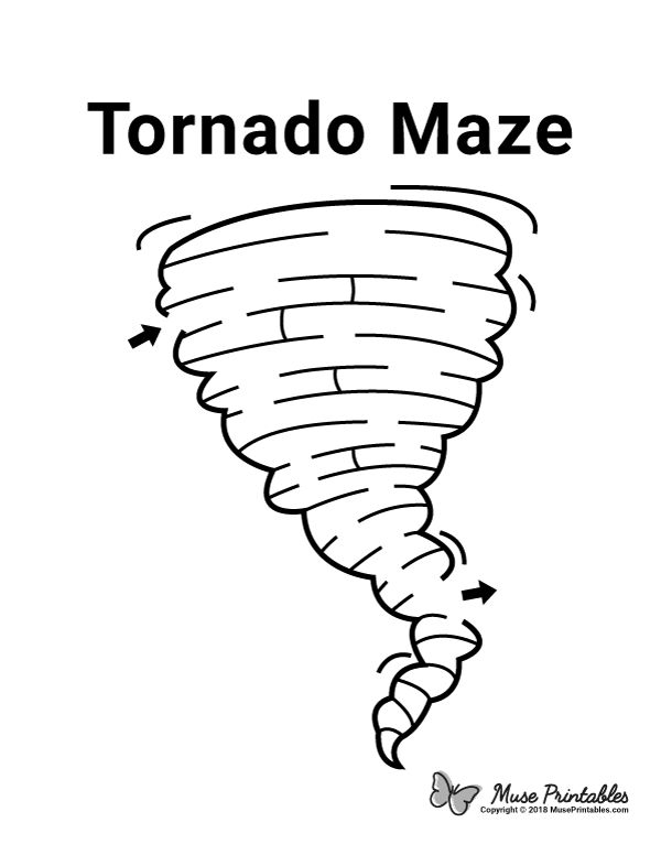 Free printable tornado maze. Download the maze and
