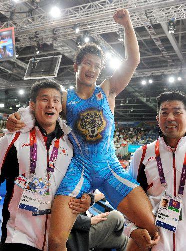 写真:男子グレコ60キロ級で銅メダルを獲得した松本隆太郎=森井英二郎撮影