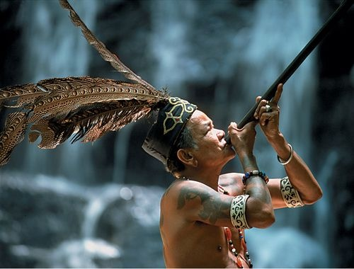 Tribes in Borneo.