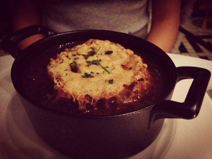 French #onions #soup gratiné