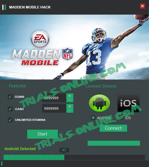 Madden Mobile Hack cheats codes Android iOS