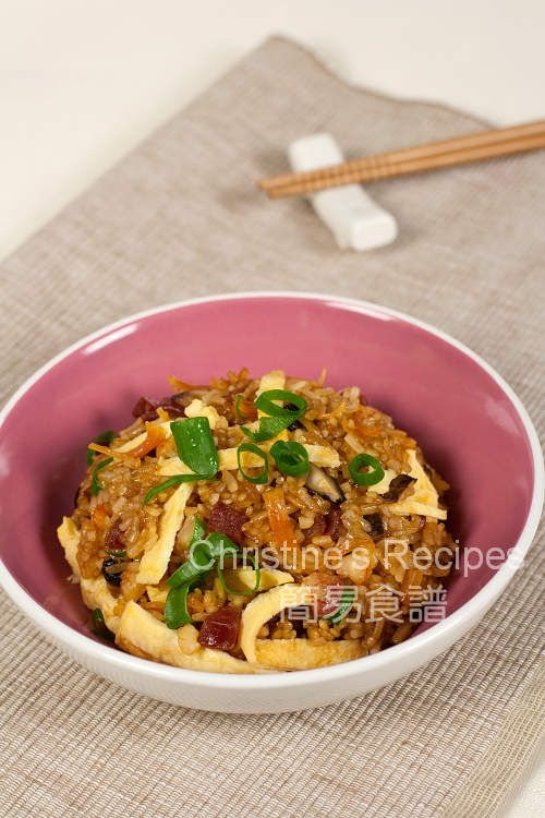 Stir-fried Glutinous Rice (生炒糯米飯) from Christine's Recipes - made this, so easy and turned out perfectly!