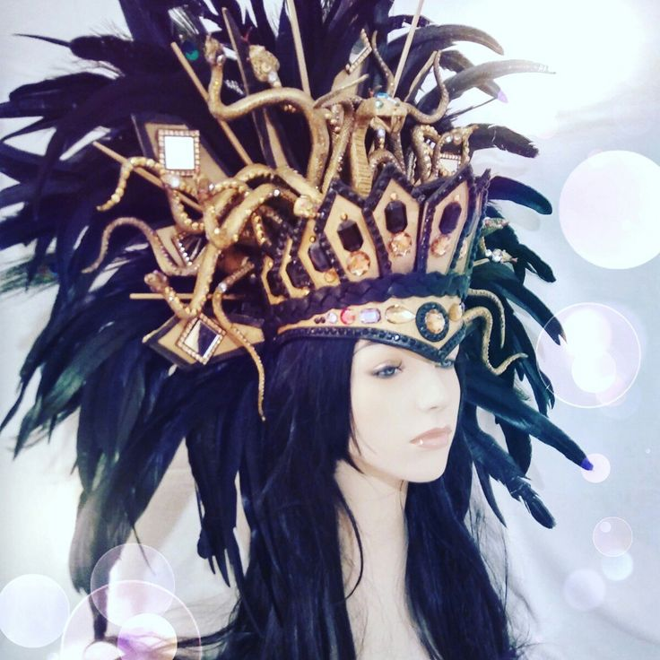 #Medusa #snakes #Inca #Queen #headdress #headpiece #Halloween #cosplay #skull #dubstep #gold #sexy #dance #club #music #goddess #princess #gay #diamonds #rhinestones Pamzylove.com #DayoftheDead #comiccom2016 #suicidesquad #rose