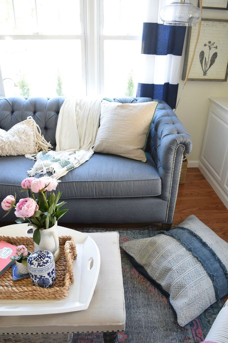 25 best ideas about denim sofa on pinterest bench jeans - Choosing a sofa for a small living room ...