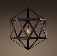 Polyhedron pendant light. Restoration Hardware - fairly certain this could be recreated for much less $$