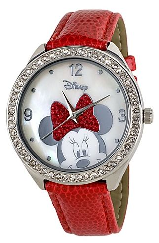 Red Strap Minnie Mouse Watch. I think I like this better than my pink one