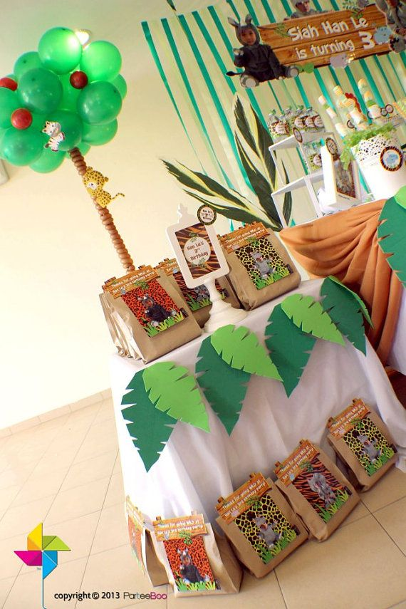 Customized Party Packs / Favors / Door Gifts  Jungle by ParteeBoo, $29.99