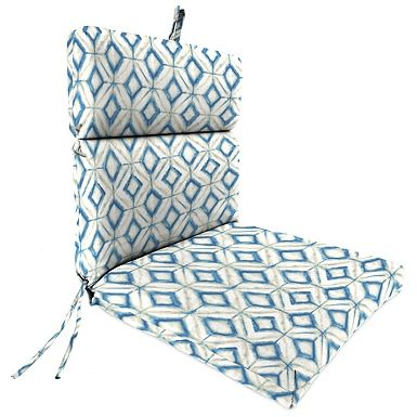Sit back and relax on this Mediterranean Chaise Outdoor Lounge Cushion. You'll love the diamond design on the outside and comfy polyester fill inside.