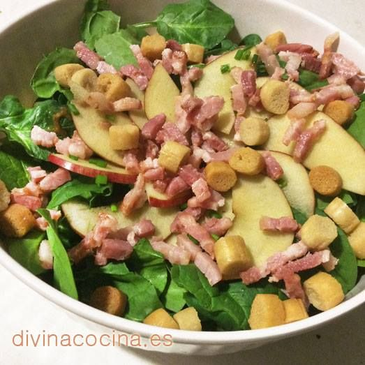 Ensalada de espinacas < Divina Cocina