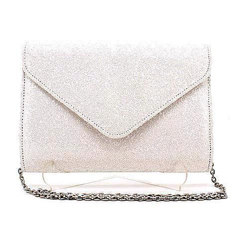 CADENCE clutch in white/glitter. #mybetsonBetts #BettsRaceDayReady #BettsShoes