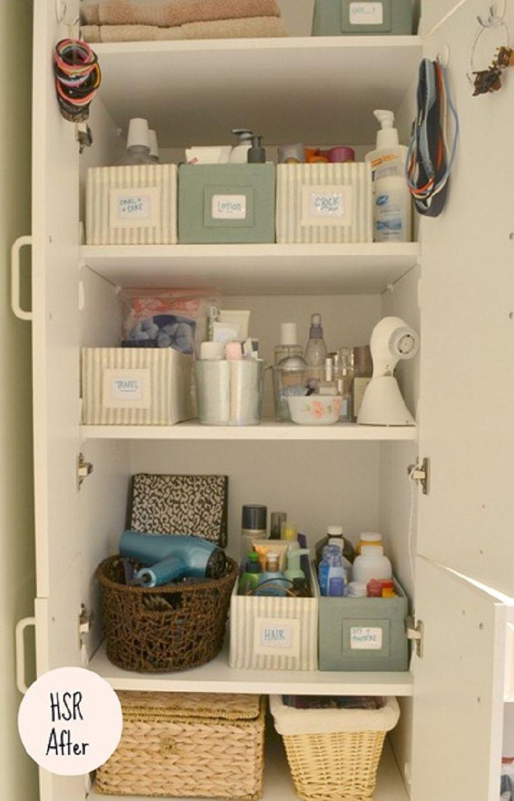 bathroom closet organization ideas. master bath organization - i want to do this with our linen closet since that\u0027s a disaster bathroom ideas