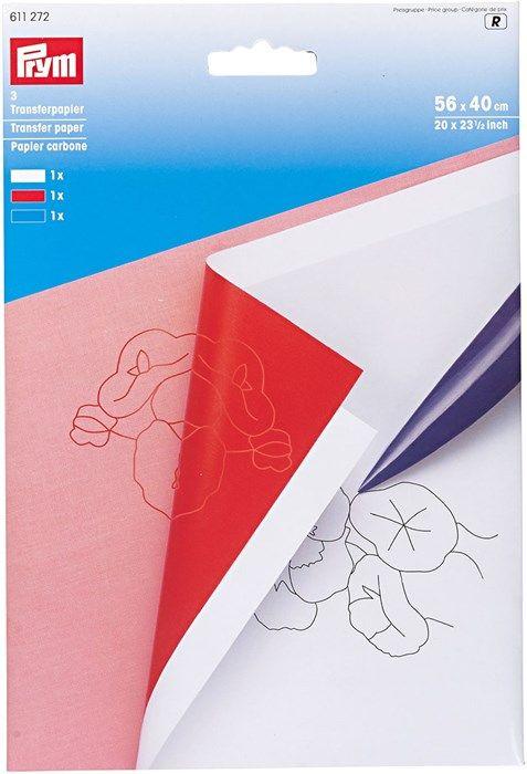 Papier carbone - Blanc, rouge et bleu - Rascol