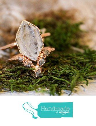 Herkimer Diamond and Raw Diamond Triangle Alternative Engagement Ring Set from The Fox And Stone https://smile.amazon.com/dp/B01NA9OLF2/ref=hnd_sw_r_pi_dp_bYgEybK9ZZEAK #handmadeatamazon
