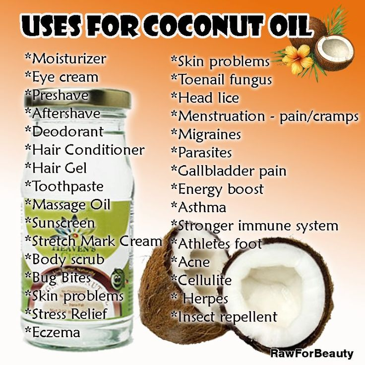 Uses For Coconut oil--I have a big tub of this in the kitchen. It's great on oatmeal too!
