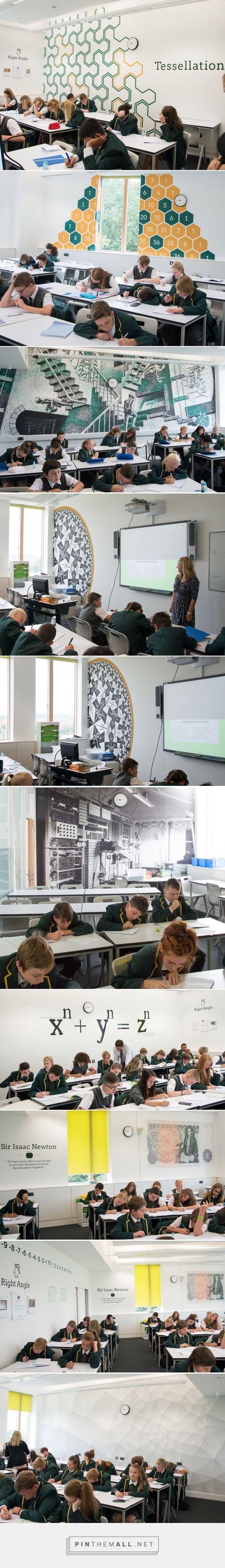 Worcester Maths Classroom Feature Walls on Behance - by TGdesign