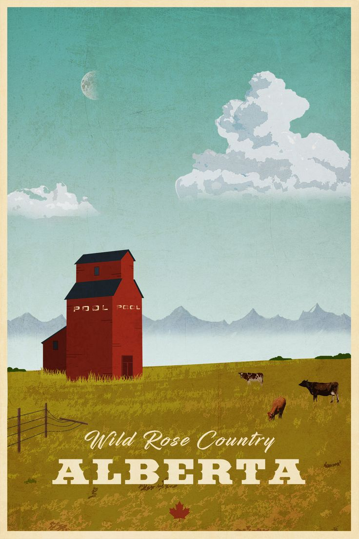 Alberta Travel Poster by littlestboho on Etsy https://www.etsy.com/ca/listing/585869144/alberta-travel-poster