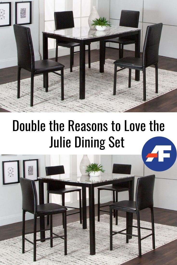 Double The Reasons To Love The Julie Dining Set American Freight Blog Counter Height Kitchen Table Kitchen Table Settings Dining Set