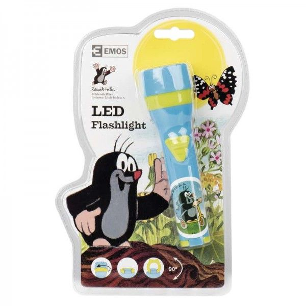 EMOS 3 LED / 2xAA Flashlight with motive from the Little Mole movie