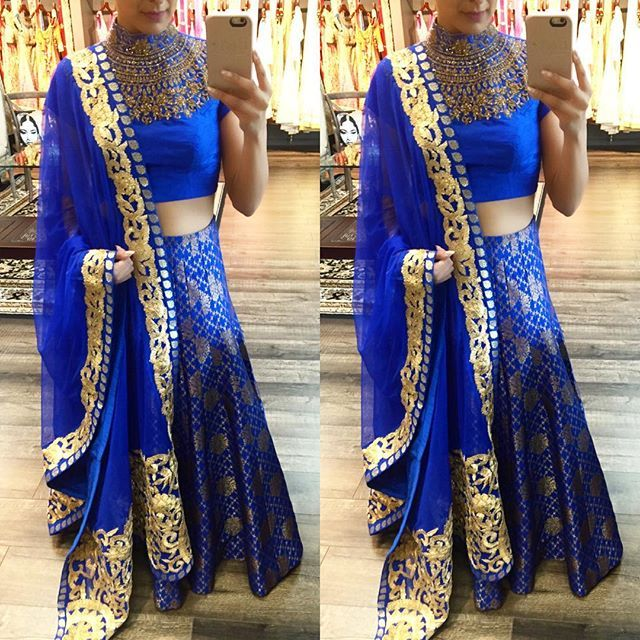 Royal blue and gold....so eye catching