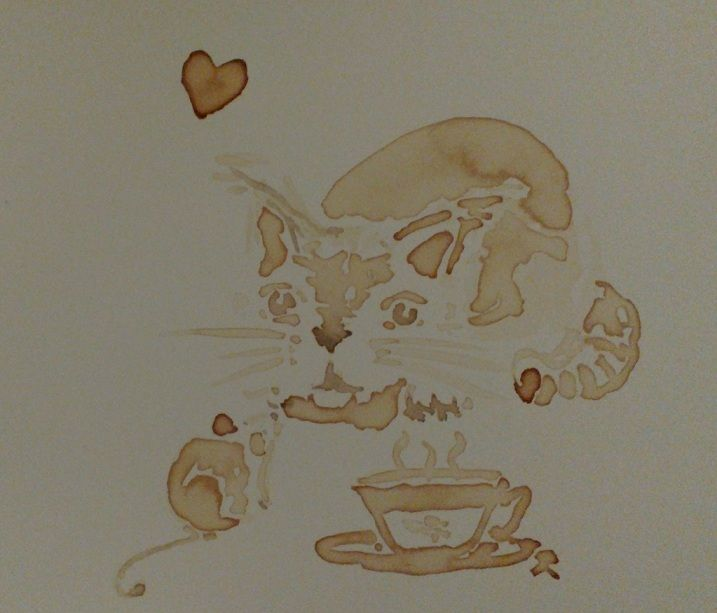 Coffee painting: Friends