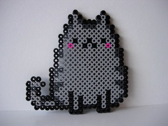 Perler Bead Kitten     Ironed On Both Sides For Extra Durability    Comes In…