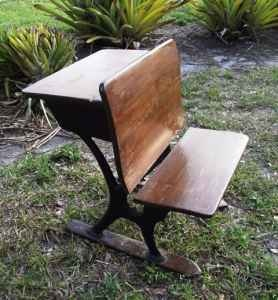 I sat on one like this in the 60's: Catholic School, Garage, Old School