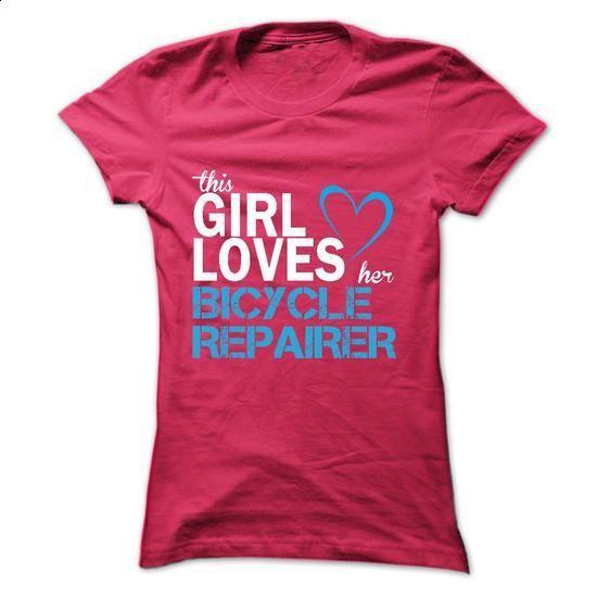 This girl love her BICYCLE REPAIRER - t shirt designs #grafic tee #sweatshirt…