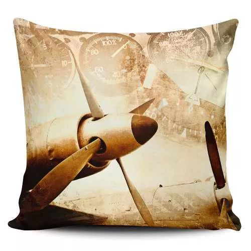 Cojin Decorativo Tayrona Store Avion Vintage - $ 43.900