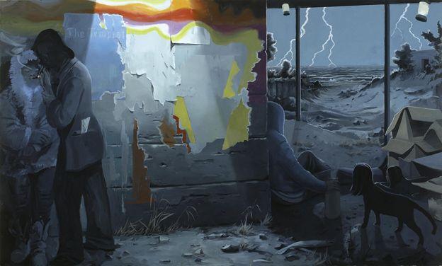 "Tilo Baumgartel, ""The Tempest"", oil on canvas, 220 x 340cm, 2008."