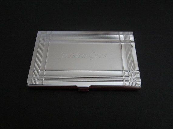 Personalized Business Card Holder. Metal Business Card