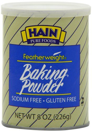Hain Pure Foods Baking Powder Sodium Free, Gluten Free, 8 Ounce Boxes (Pack of 4) >>> Haven't you heard that you can find more discounts at this image link : baking desserts recipes