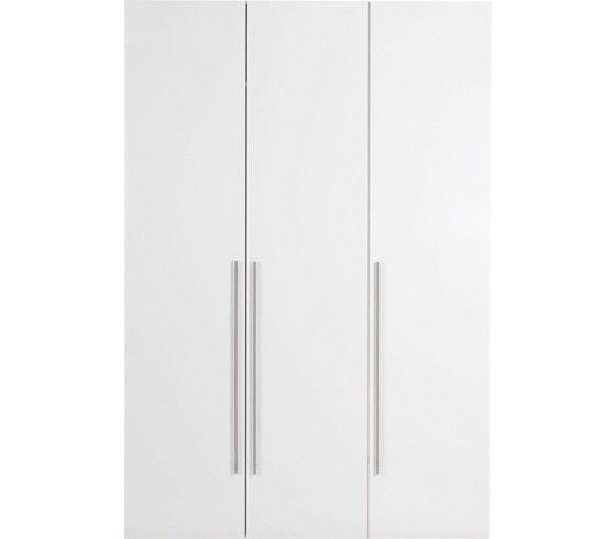 Kleiderschrank in Weiß Hochglanz - schlicht, stilvoll und praktisch