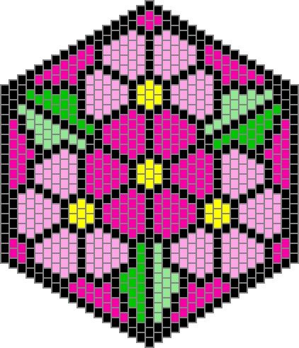 Mandala type bead patterns e-book