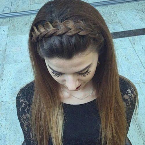 Simple Indian braided hair band