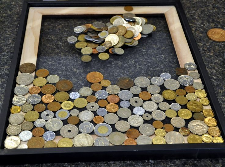 Coin Art- for all the foreign coins- definately gonna make something like this will all of mine!!