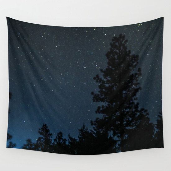 Star Tapestry Night Tapestry Blue Tapestry by GriffingPhotography