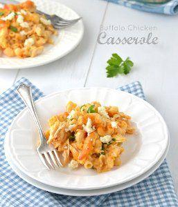 Buffalo Chicken and Pasta Casserole | AllFreeCasseroleRecipes.com