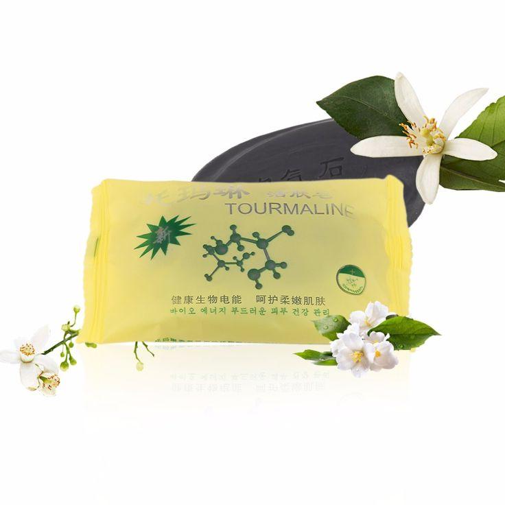 Tourmaline Bambou D'énergie Active Savon Charbon De Bois Énergie Savon Concentré Soufre Savon Pour Le Visage & Corps Beauté Healthy