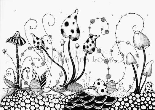 Atelier Aquarellzauber Blog: Doodle,Zentangle oder Zendoodle wie auch immer....  Inspiration!