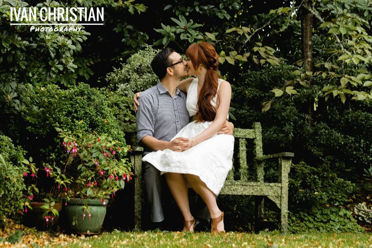 I have been editing Zoe's and Alex's e-shoot photos from our magical Leura garden shoot in the rain and I just had to post this one of them on a moss covered chair! - Ivan Christian Photography