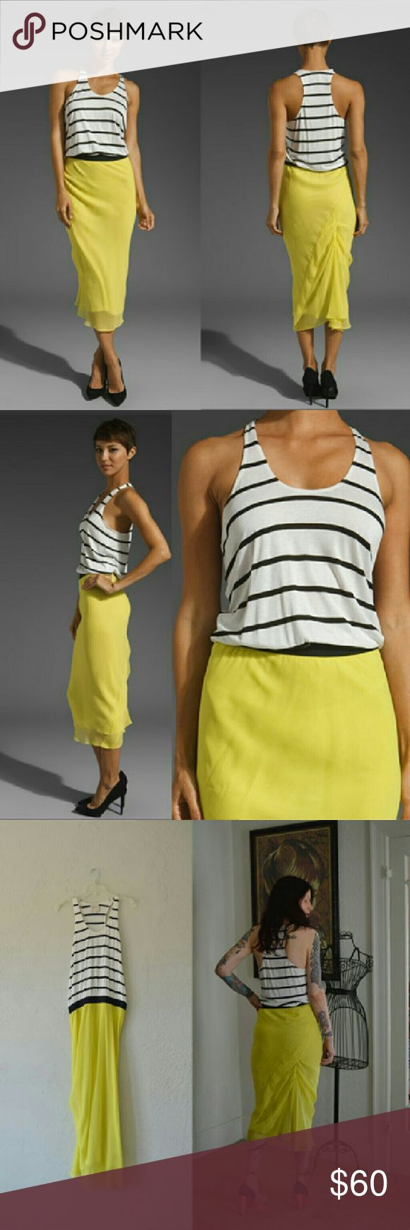 NWOT Mason by Michelle Mason striped tank dress Michelle Mason is an independent designer, adored by celebrities, and stocked at retailers such as Saks Fifth Avenue, Net-a-Porter, Revolve Clothing, and many others. Her creations are known for sexy, body-skimming fits and a playful sensibility -- just like this colorblocked jersey and silk dress. Lined silk skirt features a shirred, fish-tail hem. Blousey jersey tank, with a grosgrain waistband.  Never worn. Mason by Michelle Mason  Dresses…