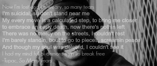 so many tears - tupac