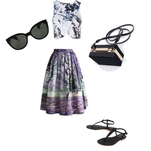 A fashion look from November 2015 by ipekimir featuring Topshop, Chicwish, Cocobelle, Zara ve Oliver Peoples
